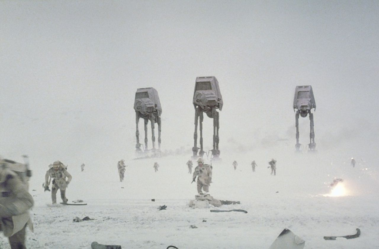 AT-ATs attack in the Battle of Hoth