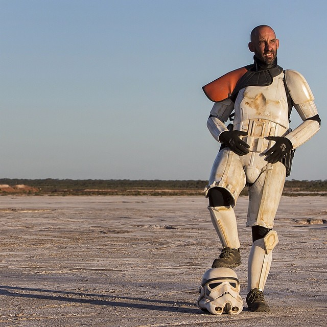 Scott Loxley in stormtrooper armor
