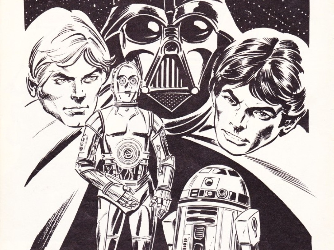 Star Wars collector's pin-up