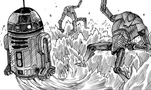 R2-D2 and super battle droids in The Tragedy of the Sith's Revenge