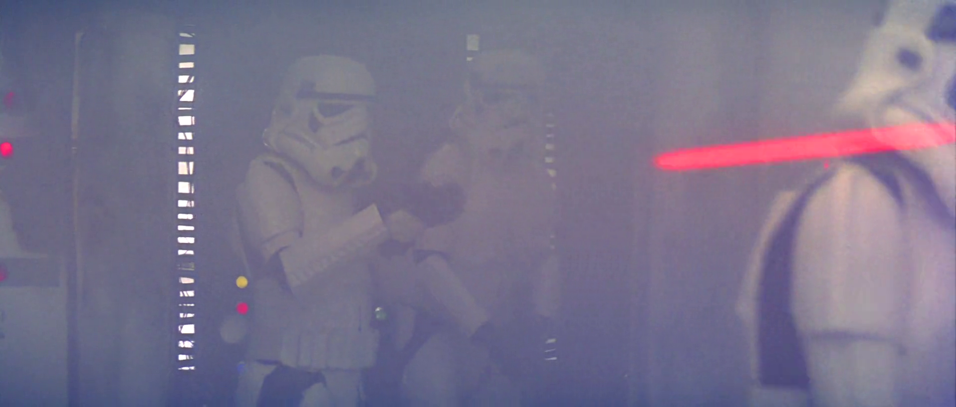 Stormtroopers emerge from smoke