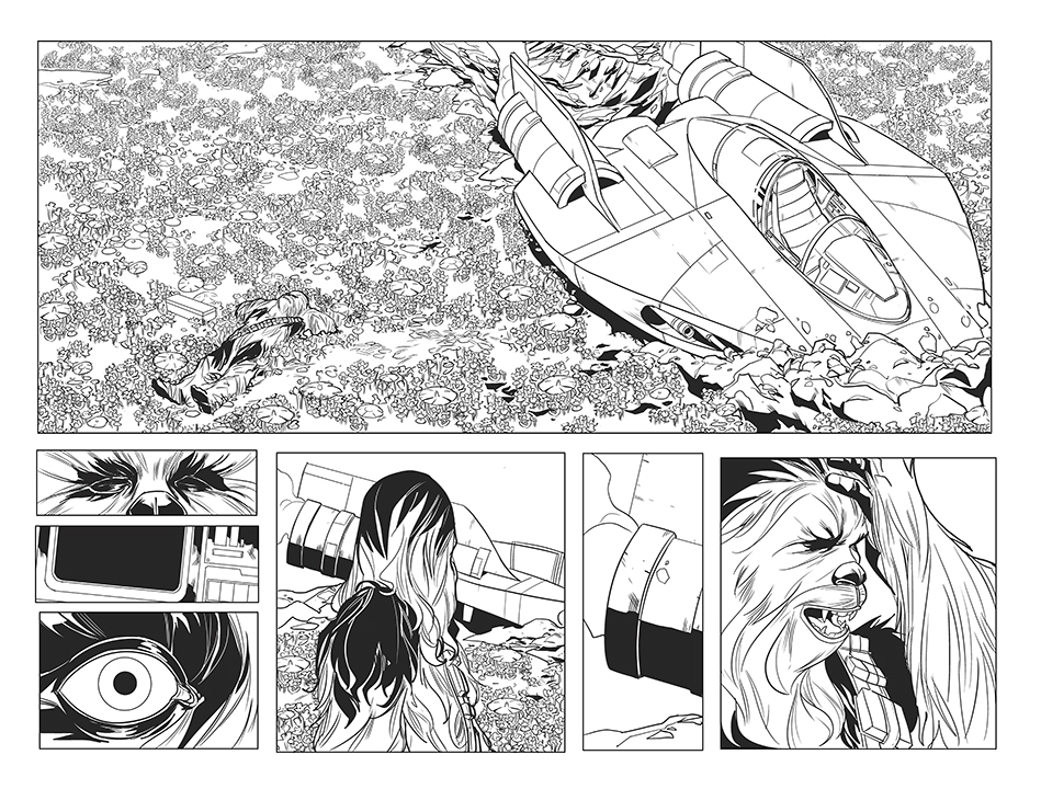 Chewbacca #1 page by Phil Noto