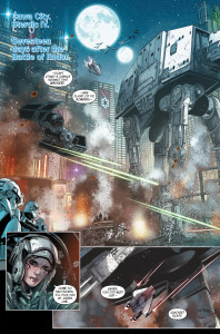 Star Wars Shattered Empire #2 Tie Fighters and Imperial AT-AT