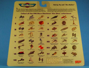 Micro Machines back card