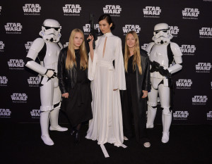World MasterCard Fashion week - stormtroopers and models