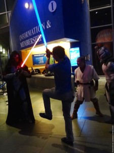 Long Beach Aquarium Night Dive - Jedi duel