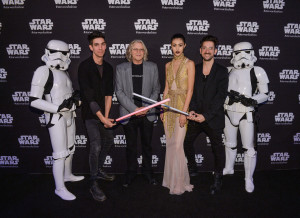 World MasterCard Fashion week - stormtroopers and model