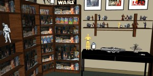 Kraft commercial set and Rancho Obi-Wan collectibles