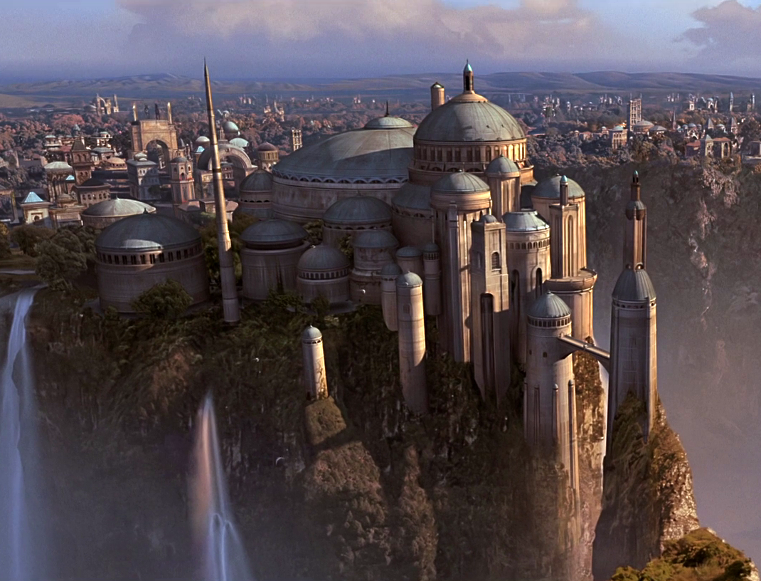 Imagining an autumn day on naboo - Paysage star wars ...