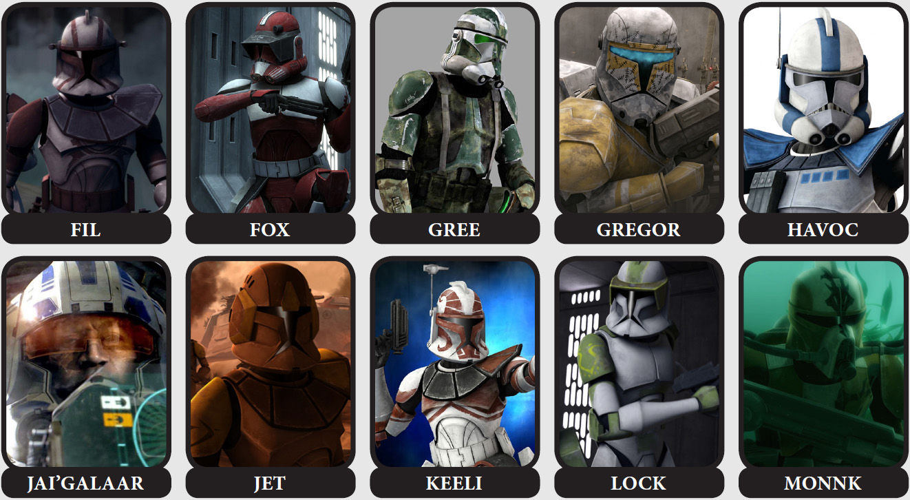 kaminos finest captains and commanders of the clone army