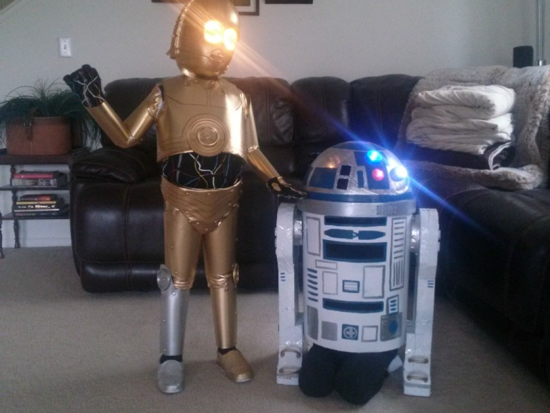 Threepio and Artoo costumes