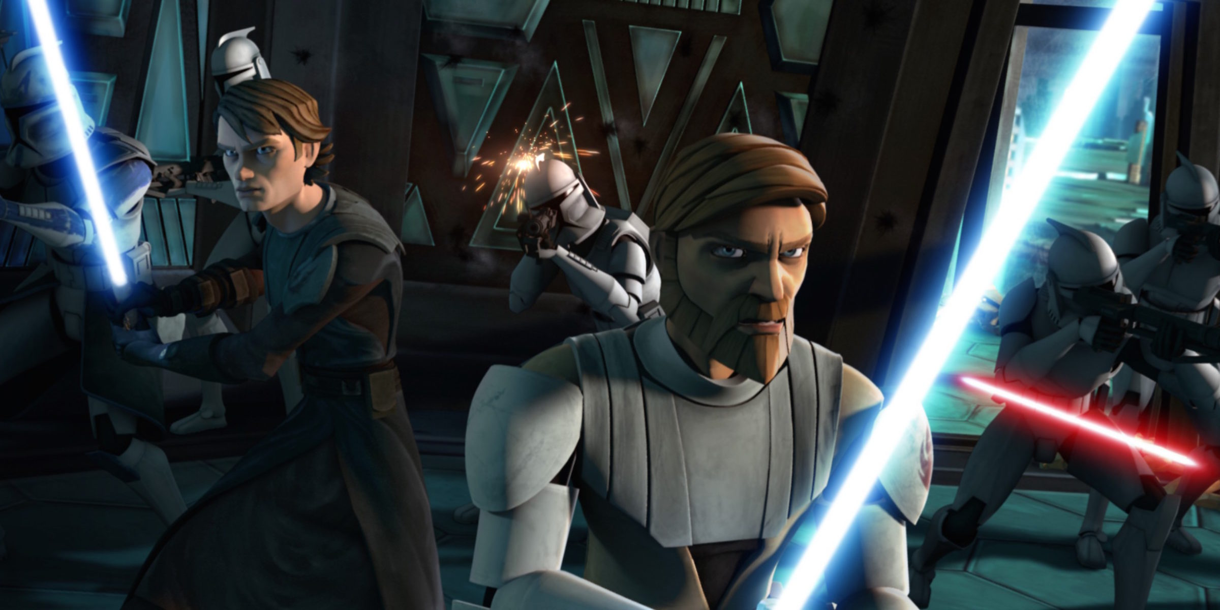 Obi-Wan and Anakin in The Clone Wars