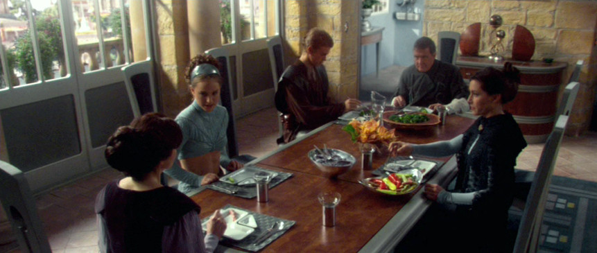 Episode II - Deleted Scene Anakin and Padme family eating
