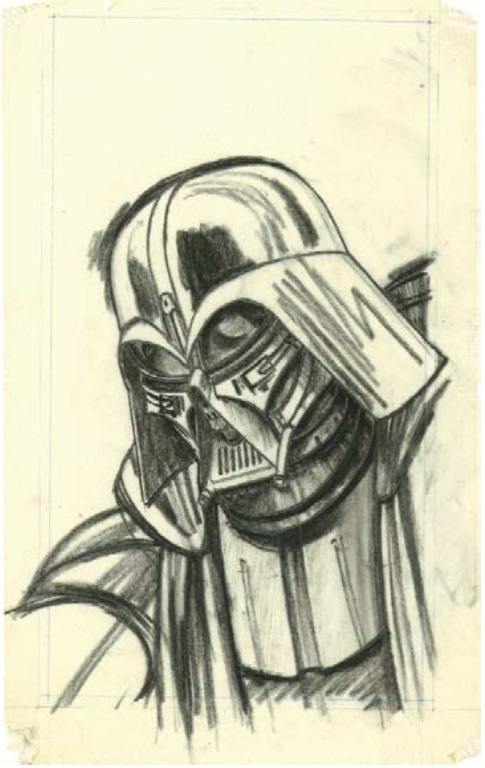 McQuarrie - Vader Pencil Drawing