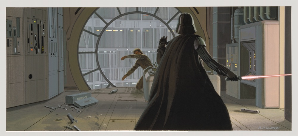 McQuarrie - Vader and Luke in Observation Room on Cloud City