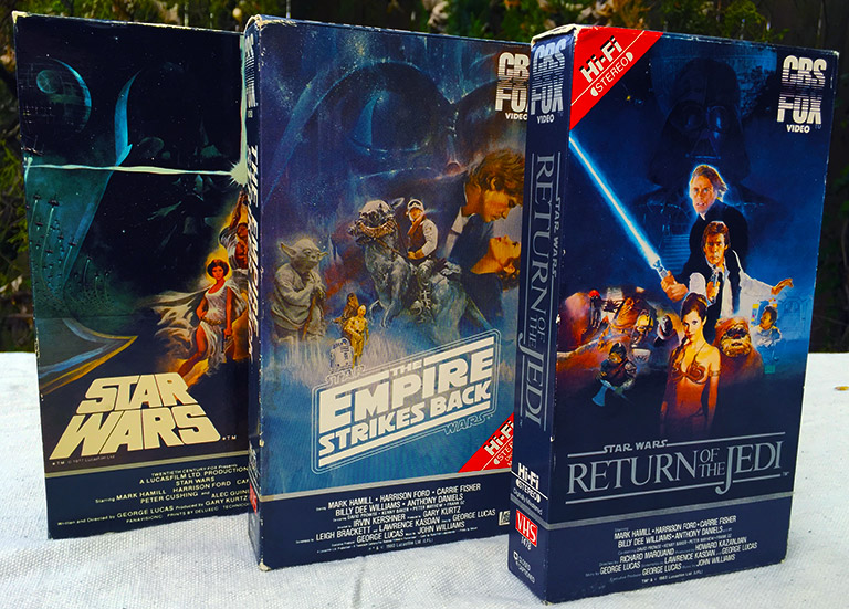 Image result for star wars vhs cbs fox