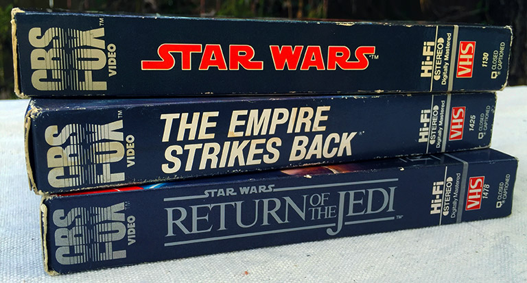 Star Wars VHS tapes - CBS/Fox