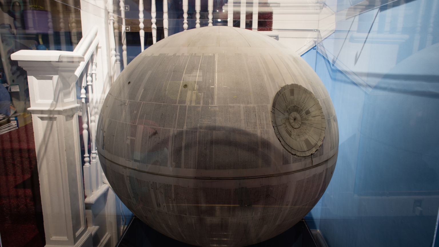 Death Star Model - Close-up in Display Case