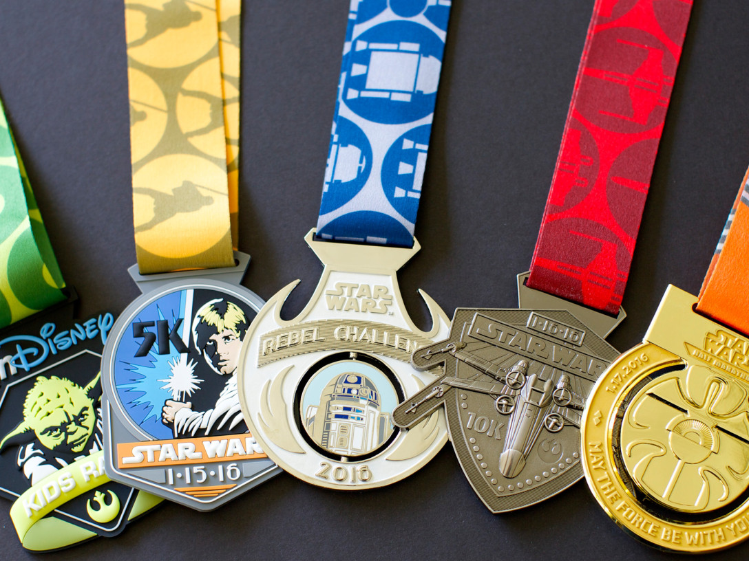 runDisney Star Wars Medals