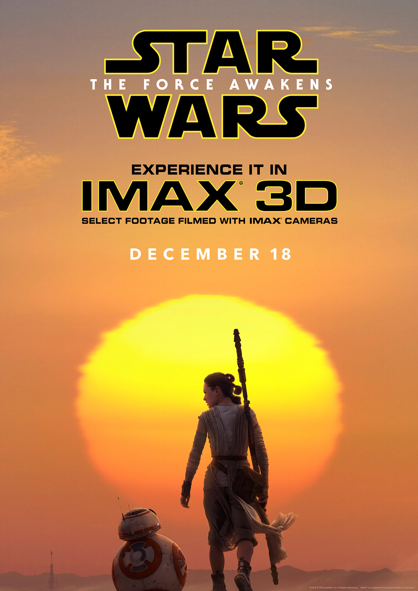 take a first look at the star wars the force awakens imax 3d poster