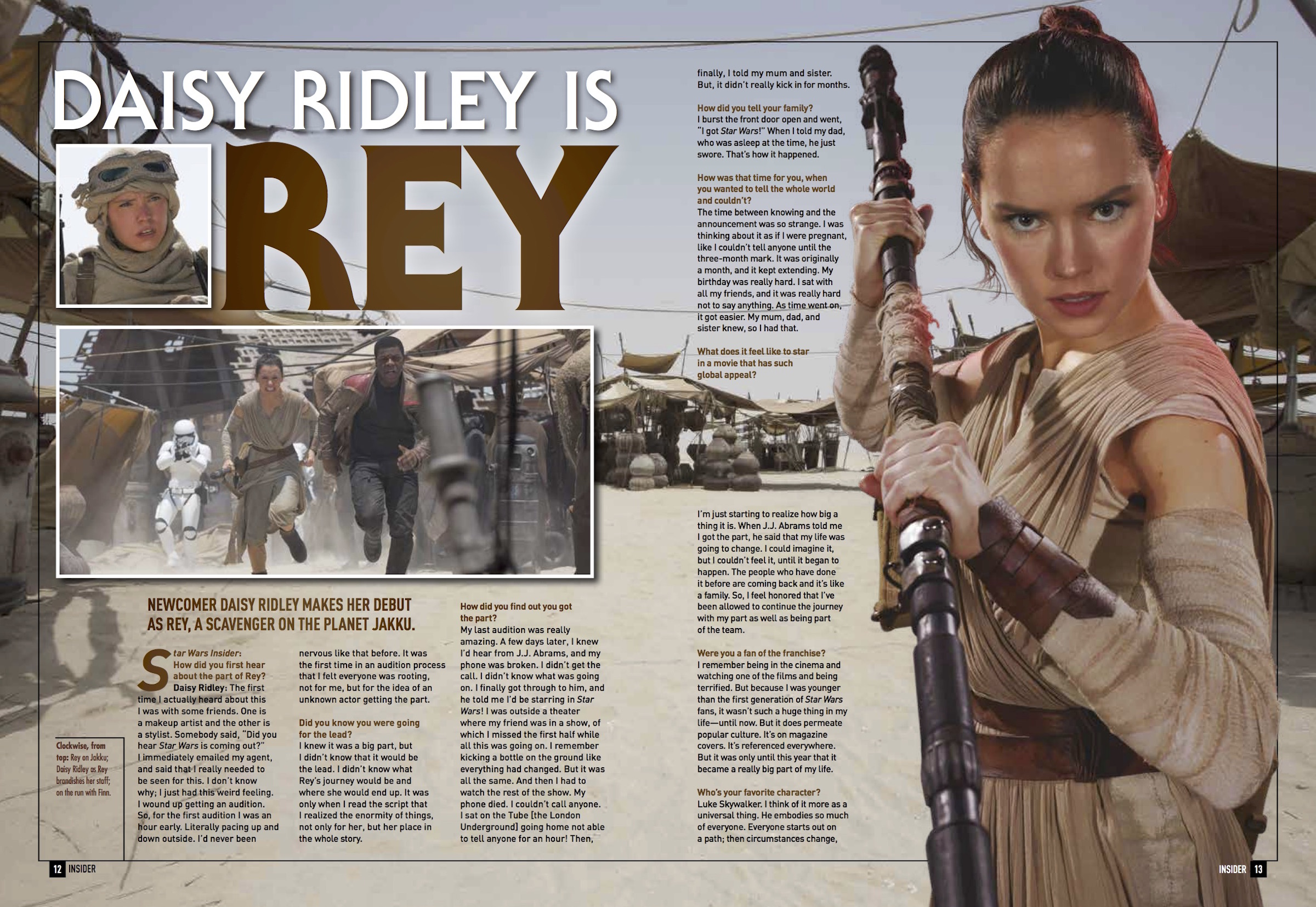 Star Wars Insider Daisy Ridley Interview