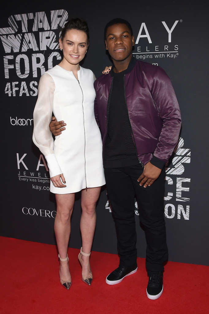 Force 4 Fashion - Daisy Ridley (L) and John Boyega