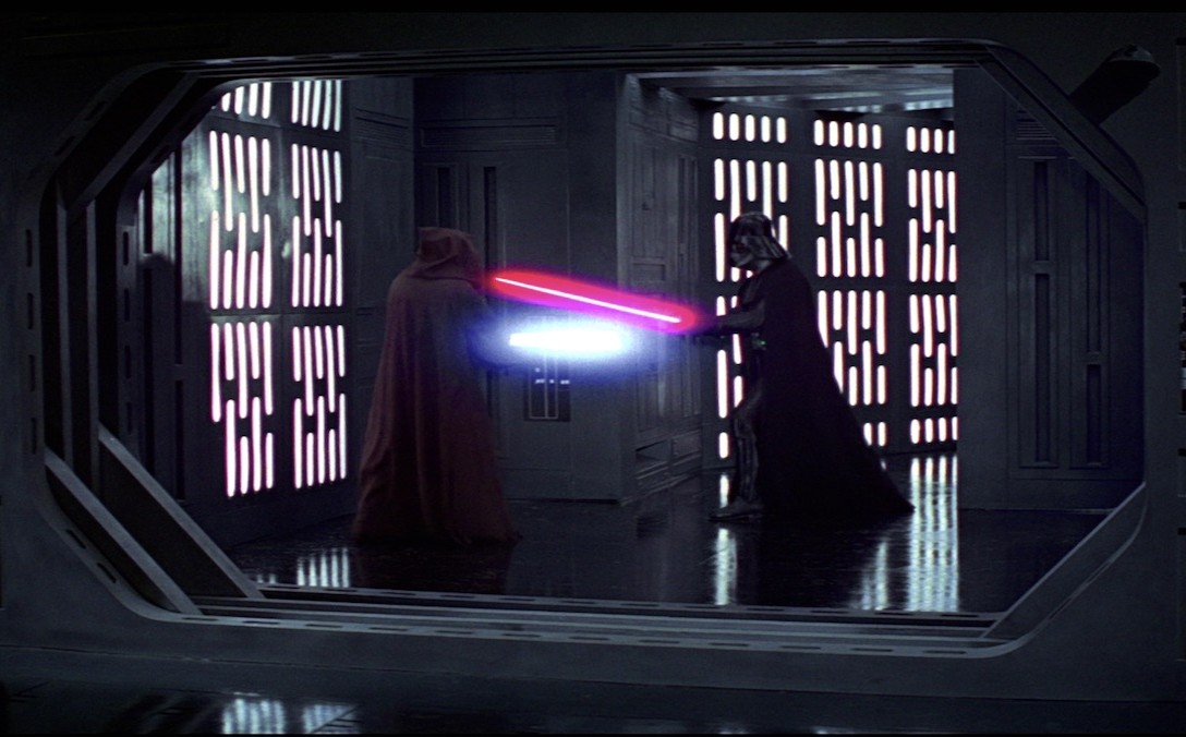 A New Hope - Kenobi and Vader fighting on the Death Star