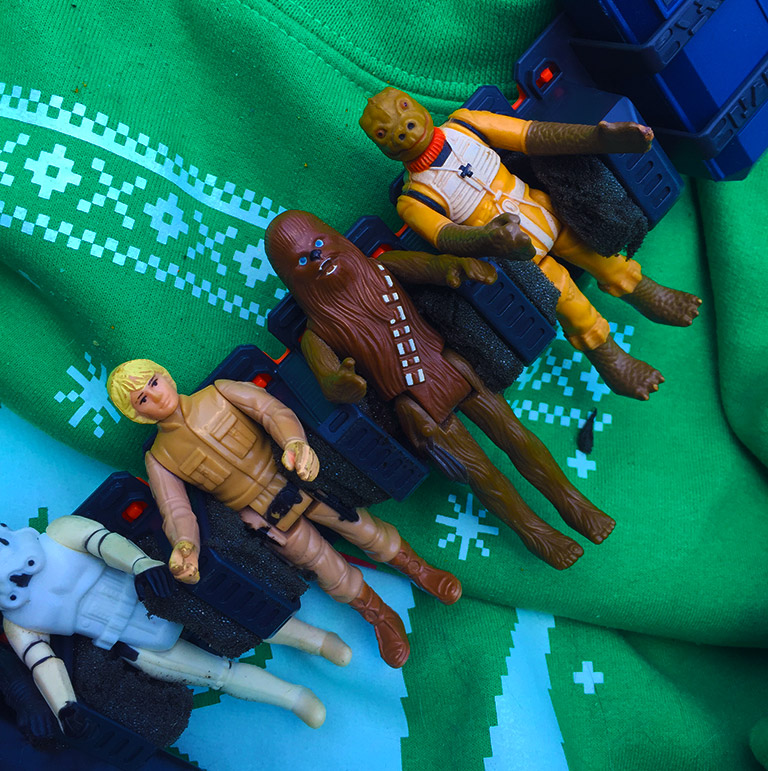 Chewbacca Bandolier Strap Figures Close-up