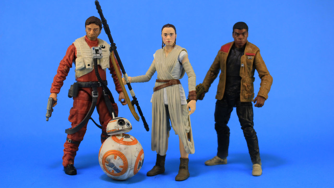 Hasbro 6 Black Series Figures - Poe, BB-8, Rey, Finn