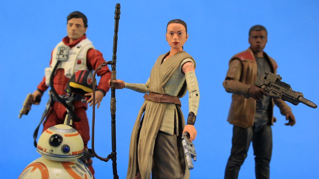 Disney Elite Heroes Figures - Poe, BB-8, Rey, and Finn