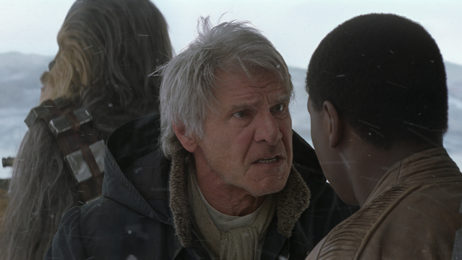 The Force Awakens - Chewbacca, Han, and Finn on Starkiller Base