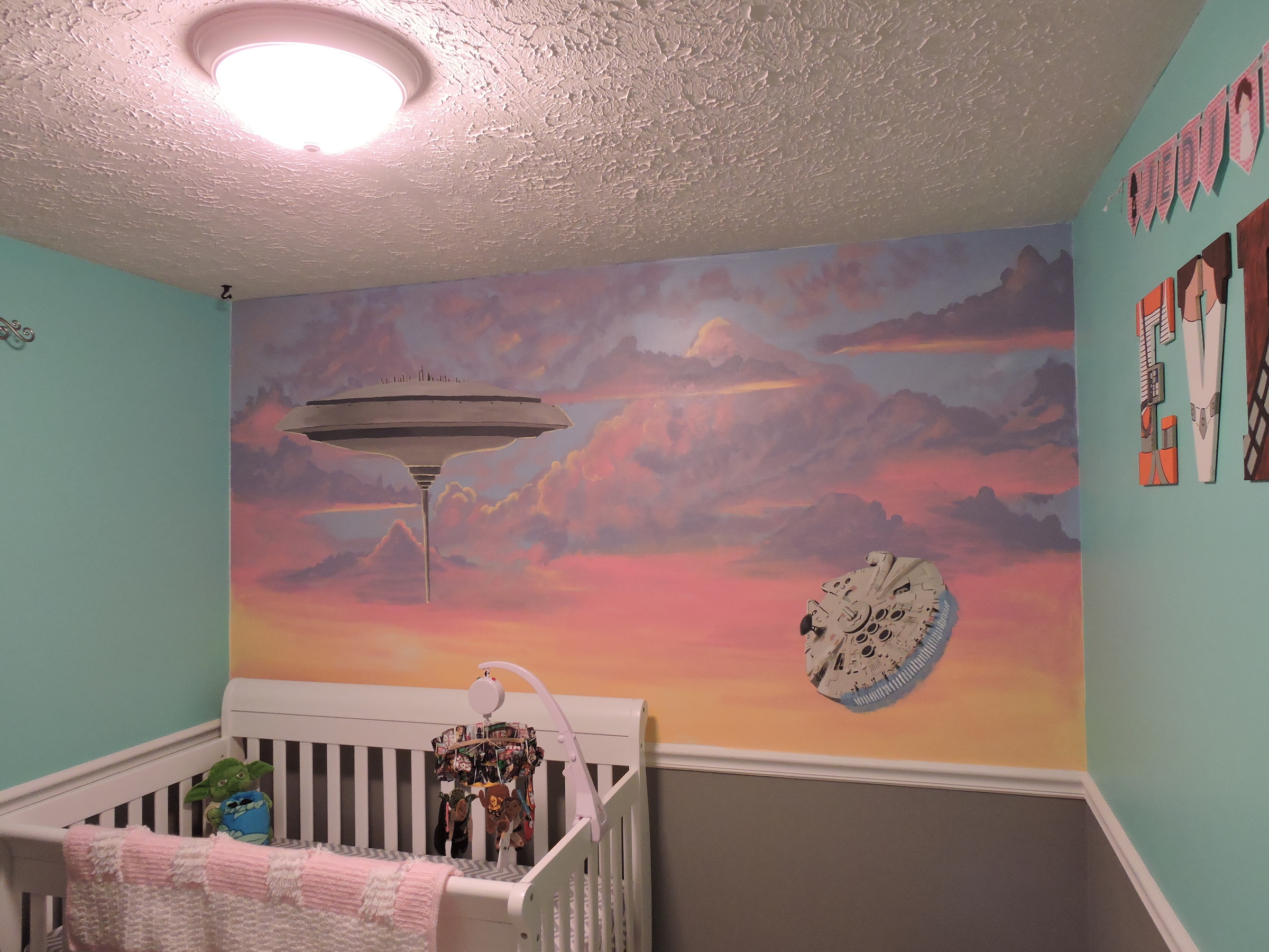 Star Wars Nursery Cloud City Mural