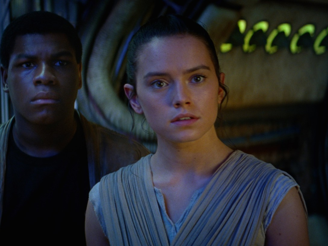 The Force Awakens - Finn and Rey aboard the Millennium Falcon