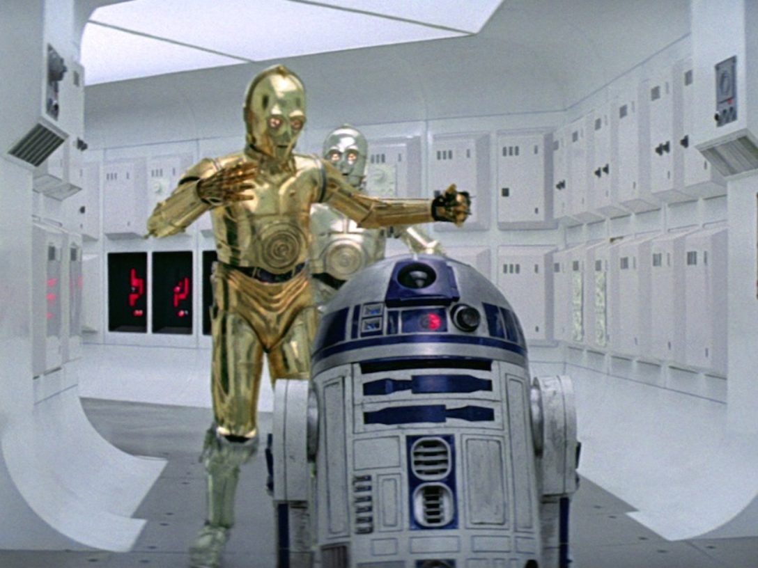 A New Hope - C-3PO and R2-D2 on Tantive IV