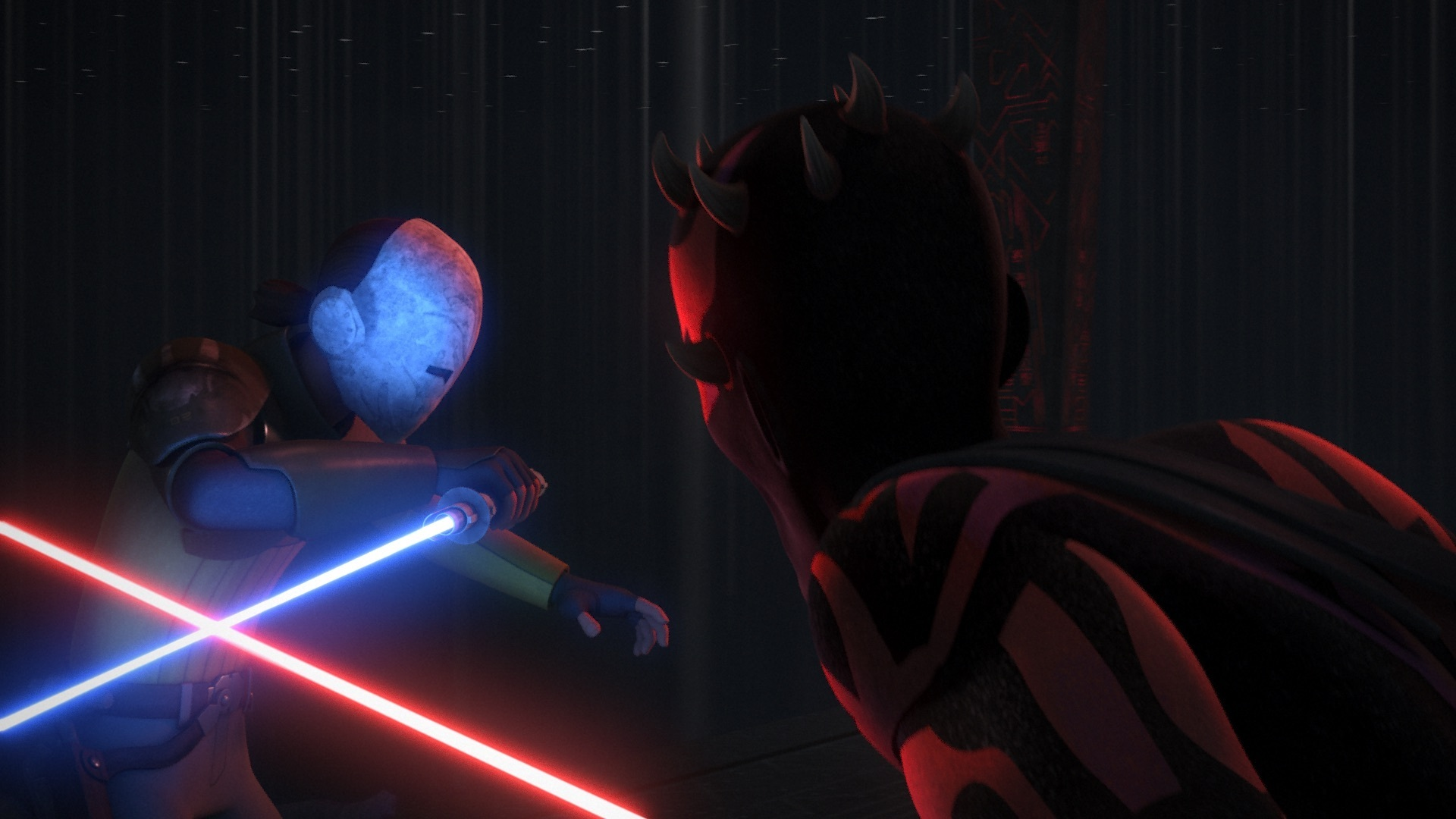 Star Wars Rebels - Kanan fighting Maul