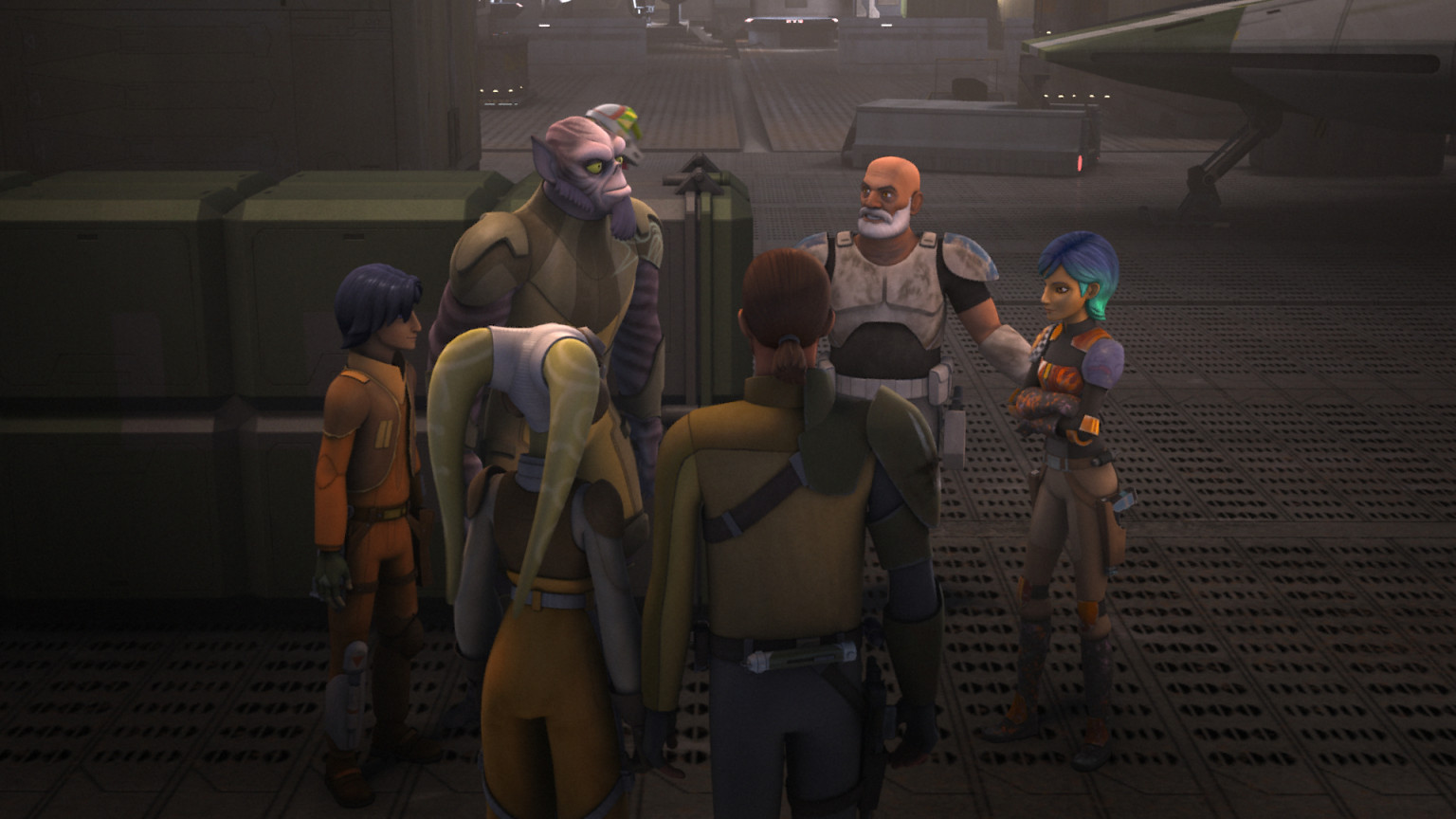 Star Wars Rebels - The Ghost crew and Rex
