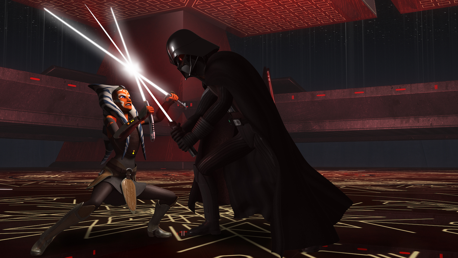 Twilight of the Apprentice - Ahsoka and Vader fighting
