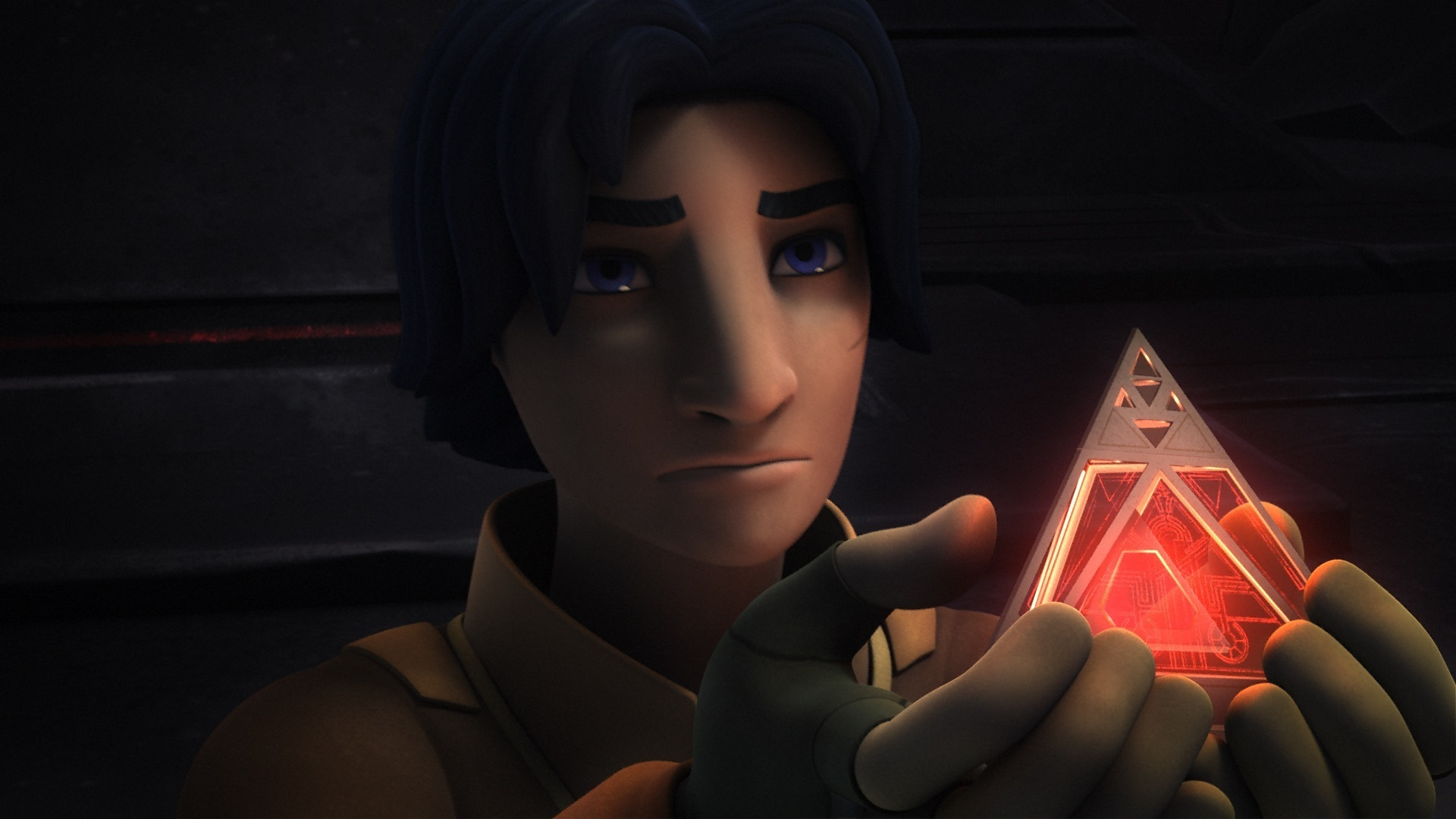 Star Wars Rebels - Ezra Bridger with the Sith holocron