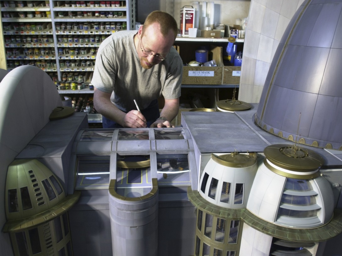 Attack of the Clones - Adam Savage working on a model