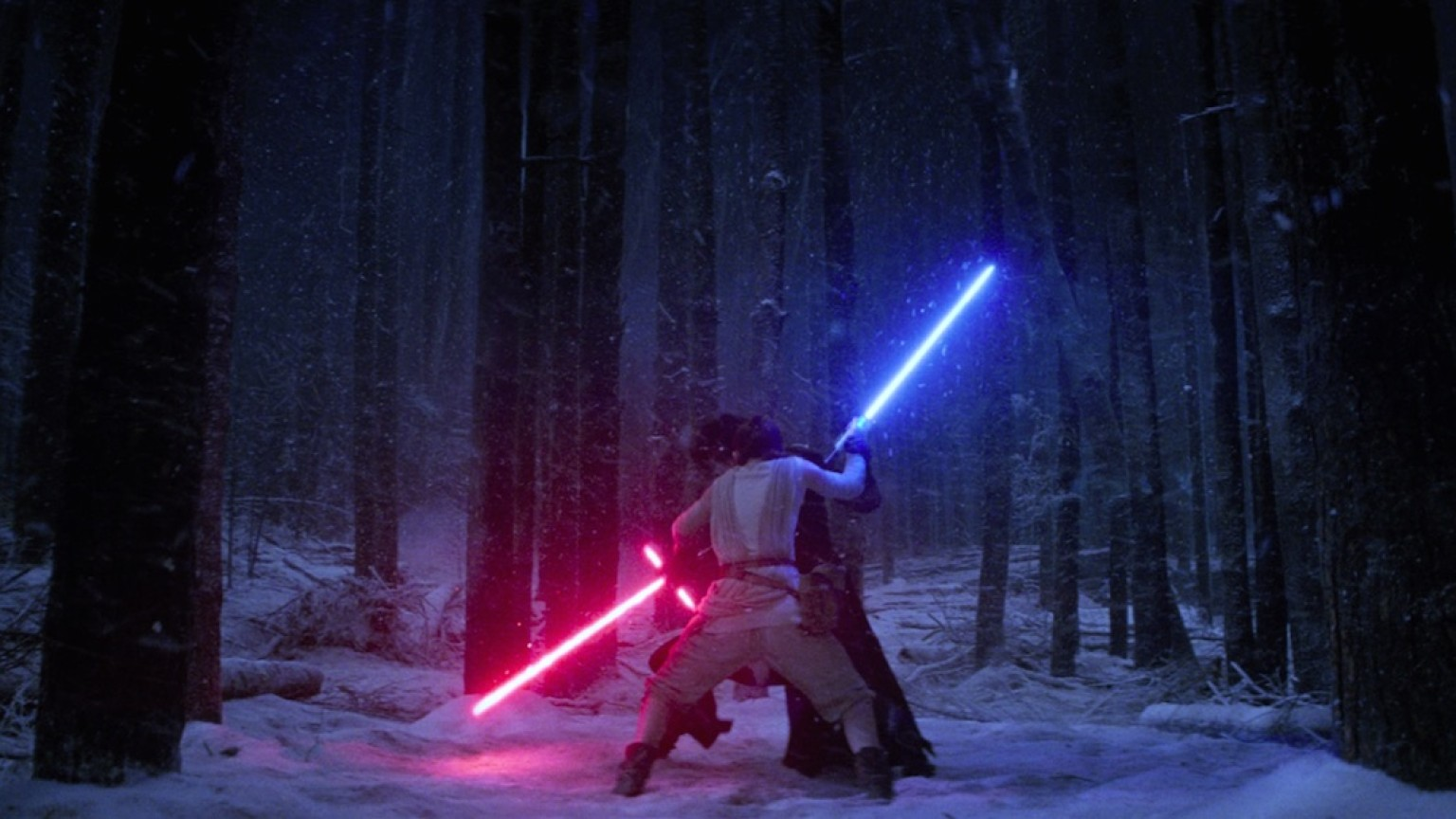 The Force Awakens - Rey and Kylo Ren