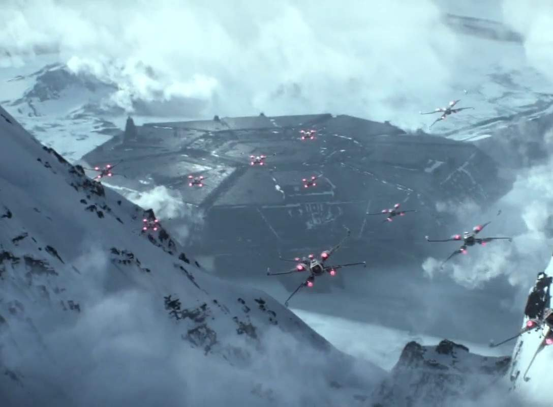 The Force Awakens - The Resistance attacks Starkiller Base