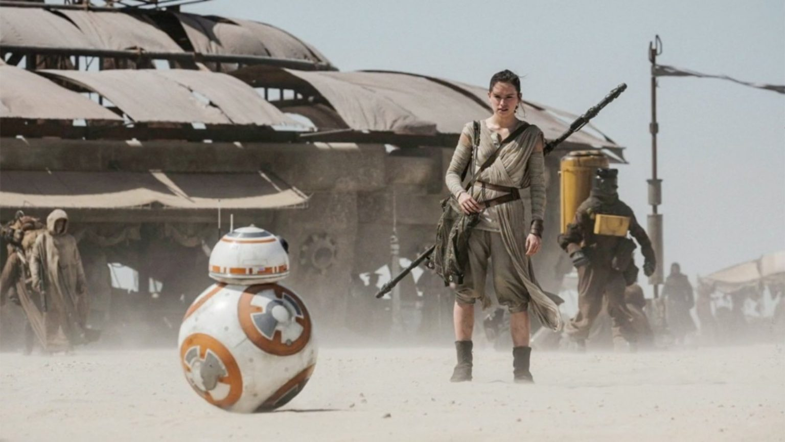 The Force Awakens - Rey with BB-8 on Jakku
