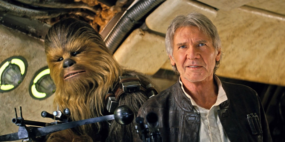 The Force Awakens - Chewbacca and Han Solo on the Millennium Falcon