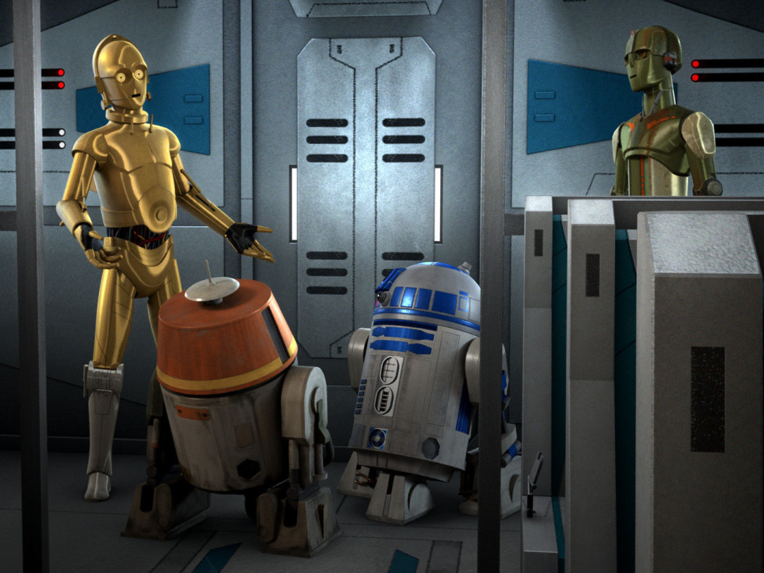 Star Wars Rebels - C-3P0, R2-D2, and Chopper