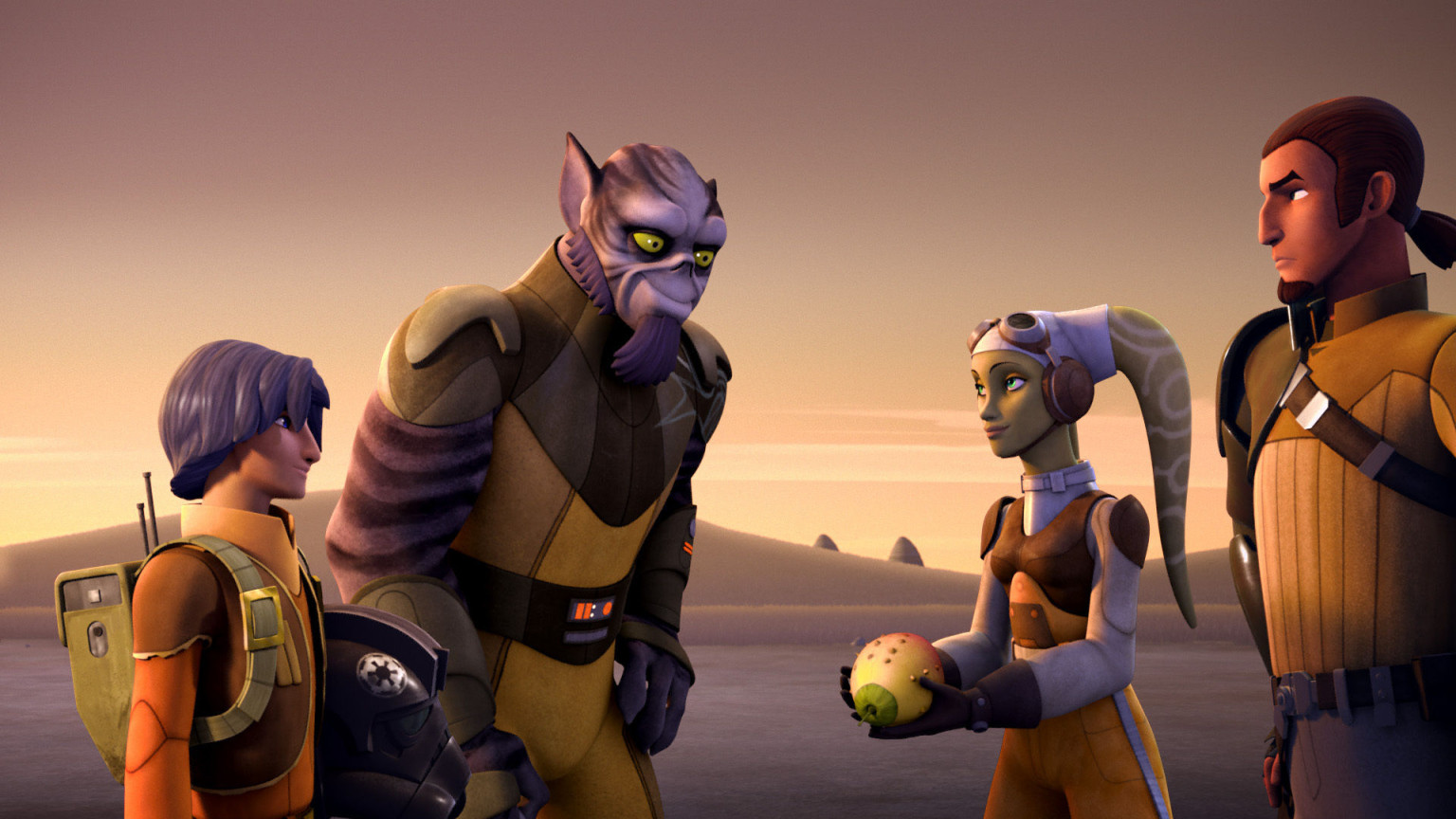 Star Wars Rebels - Zeb, Ezra, Hera, and Kanan