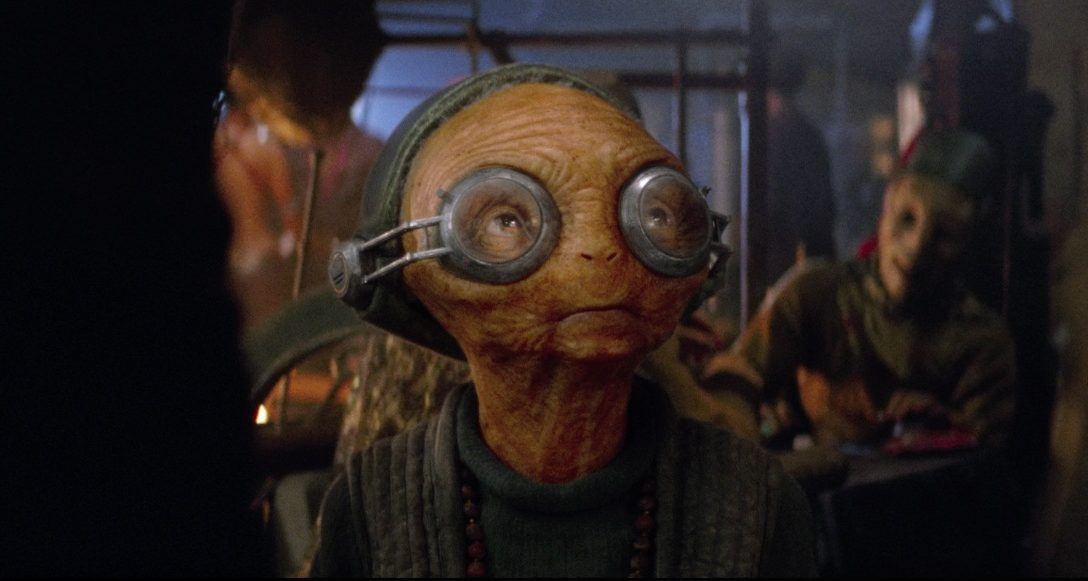 Maz Kanata in Star Wars: The Force Awakens.