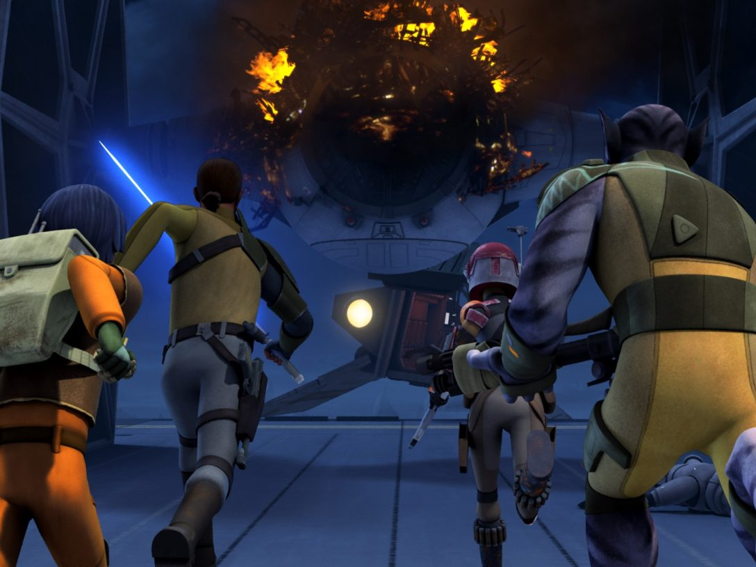 Star Wars Rebels - The crew runs to the Ghost