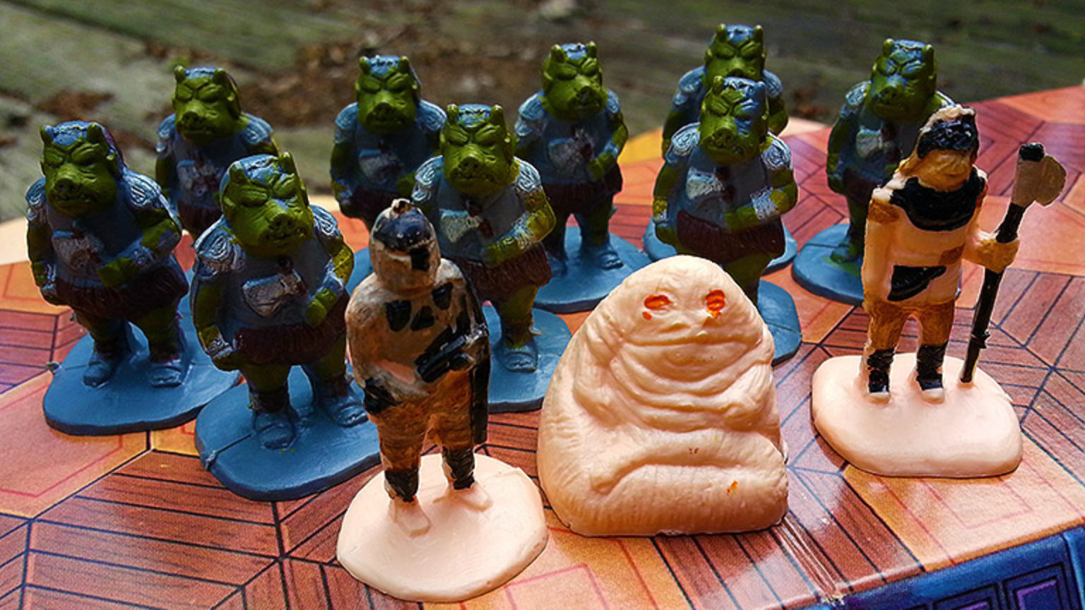 "Assorted game pieces from ""Battle at Sarlacc's Pit"""