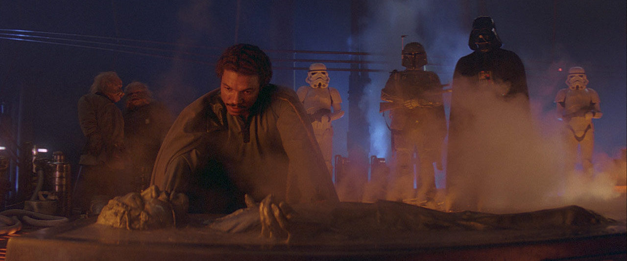 Lando over Han in carbonite