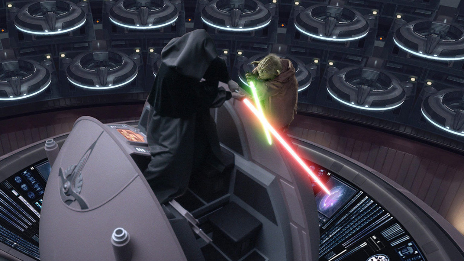 Image result for sidious vs yoda